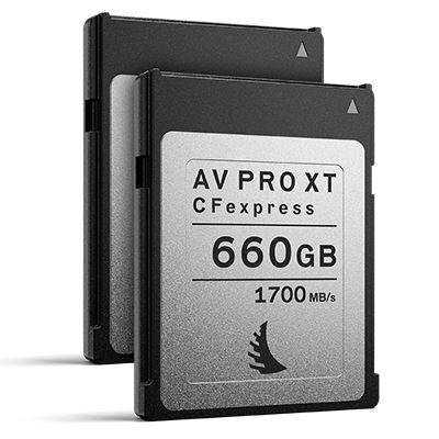 Angelbird 660GB 1700MB/Sec AV PRO CFexpress XT (Type-B) - 2 Pack