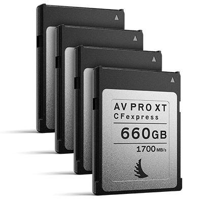Image of Angelbird 660GB 1700MB/Sec AV PRO CFexpress XT (Type-B) - 4 Pack