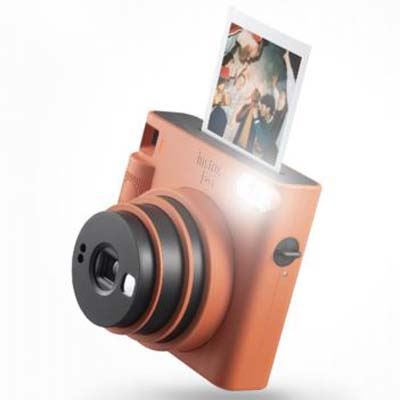 Image of Fujifilm Instax Square SQ1 Instant Camera - Terracotta Orange
