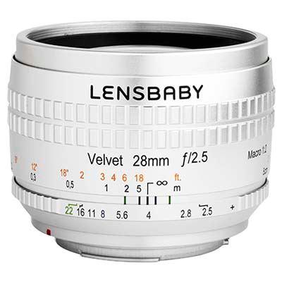 Lensbaby Velvet 28mm f2.5 Lens - Nikon F Fit - Silver