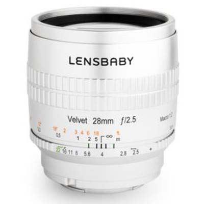 Image of Lensbaby Velvet 28mm f2.5 Lens -Nikon Z Fit - Silver