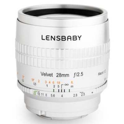 Lensbaby Velvet 28mm f2.5 Lens - Pentax K-Mount - Silver