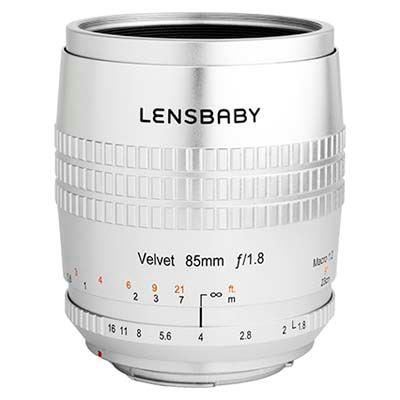 Lensbaby Velvet 85mm f1.8 Lens - Nikon F Fit - Silver