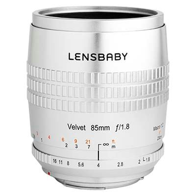 Lensbaby Velvet 85mm f1.8 Lens - Pentax K-Mount - Silver