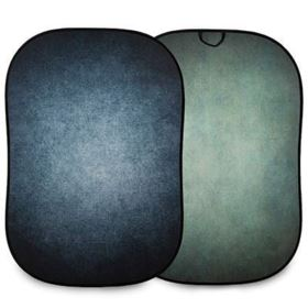 Lastolite Vintage Collapsible Reversible Background 1.5 x 2.1m - Ink / Sage