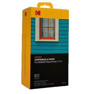 Kodak Cartridge and Paper 4 x 6 inch - 80 Photos
