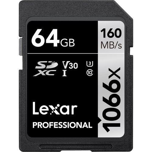 Image of Lexar 64GB Professional UHS-I 1066x 160MB/s SDXC