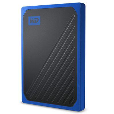 Image of WD 500GB My Passport Go Portable SSD - Black w/ Cobalt trim