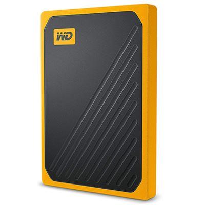 Image of WD 1TB My Passport Go Portable SSD - Black w/ Amber trim