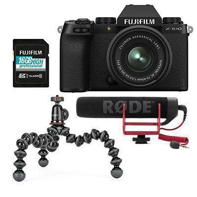 Image of Fujifilm X-S10 Digital Camera with XC 15-45mm Lens Vlogger Kit