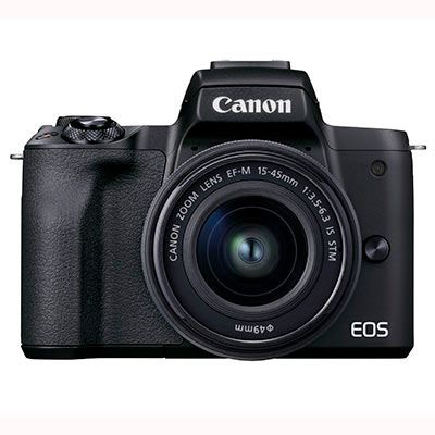 Image of Canon EOS M50 Mark II Digital Camera with EF-M 15-45mm Lens - Black