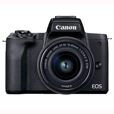 Canon EOS M50 Mark II Digital Camera with EF-M 15-45mm Lens - Black