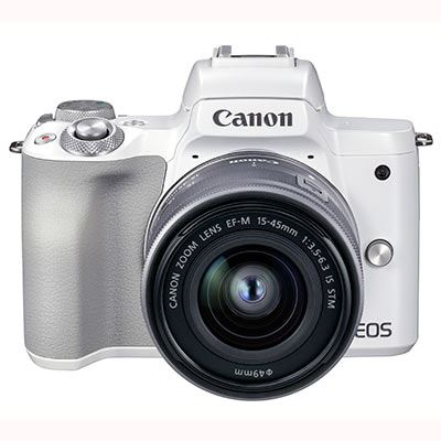 Image of Canon EOS M50 Mark II Digital Camera with EF-M 15-45mm Lens - White