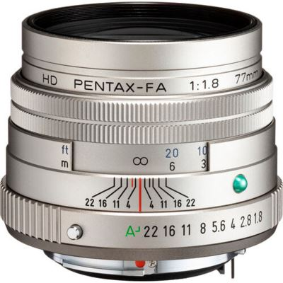 Pentax-FA HD 77mm f1.8 Limited Lens - Silver