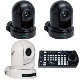 BirdDog 2x P200 Black, 1x P200 White, and 1x FREE PTZ Keyboard Controller