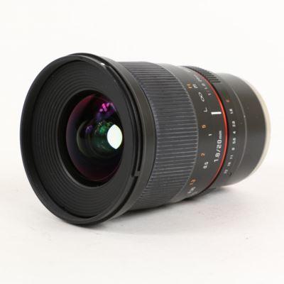 Used Samyang 20mm F1.8 ED AS UMC - Sony FE Mount