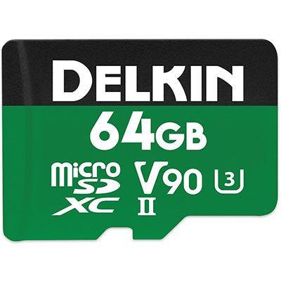 Image of Delkin 64GB POWER UHS-II V90 2000x MicroSDXC Card
