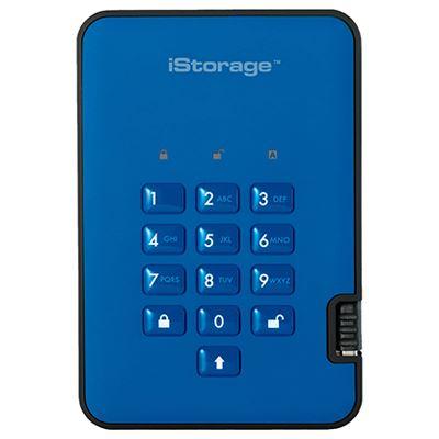 Image of iStorage diskAshur2 256-bit 3TB - Blue