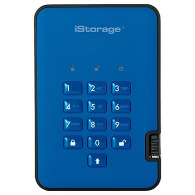 Image of iStorage diskAshur2 SSD 256-bit 128GB - Blue