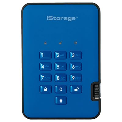 Image of iStorage diskAshur2 SSD 256-bit 512GB - Blue