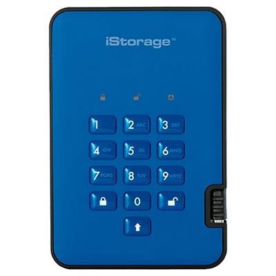 Image of iStorage diskAshur2 SSD 256-bit 8TB - Blue