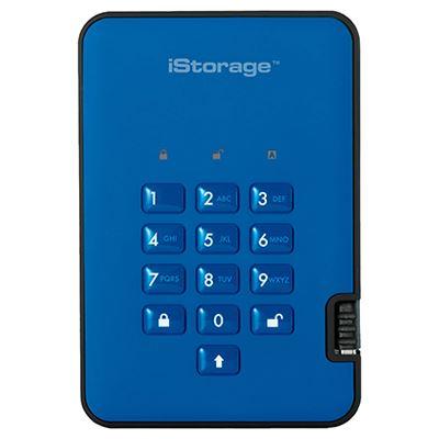 Image of iStorage diskAshur2 SSD 256-bit 16TB - Blue