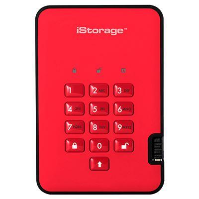 Image of iStorage diskAshur2 256-bit 3TB - Red