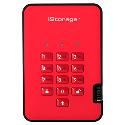 Image of iStorage diskAshur2 SSD 256-bit 16TB - Red