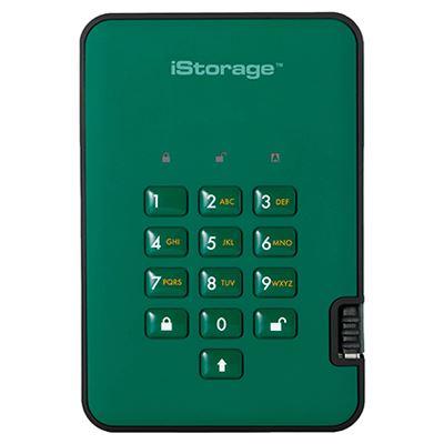 Image of iStorage diskAshur2 SSD 256-bit 2TB - Green