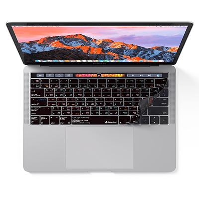 Image of Editors Keys Vim Keyboard Cover for MacBook Pro with Touchbar 13,-15