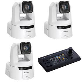 Canon CR-N500 PTZ Camera Bundle - White