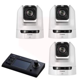 Canon CR-N300 PTZ Camera Bundle - White