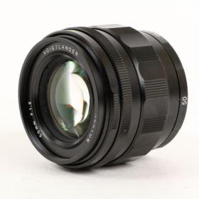 USED Voigtlander 50mm f1.2 Nokton Aspherical Lens - Sony E Fit