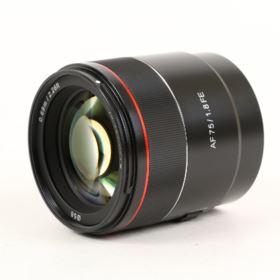 USED Samyang AF 75mm f1.8 Lens - Sony FE Fit