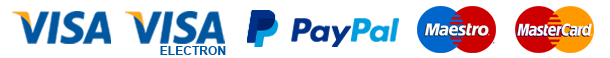 Payment Options: Visa, Paypal, Maestro and Mastercard
