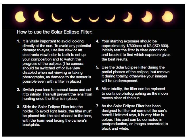 Solar Eclipse Filter Use