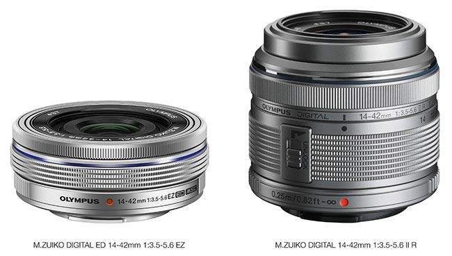 Comparison of new 14-42mm EZ lens against the older 14-42mm lens