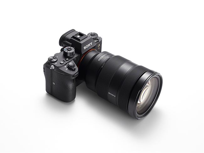 A top view of the Sony a9 camera